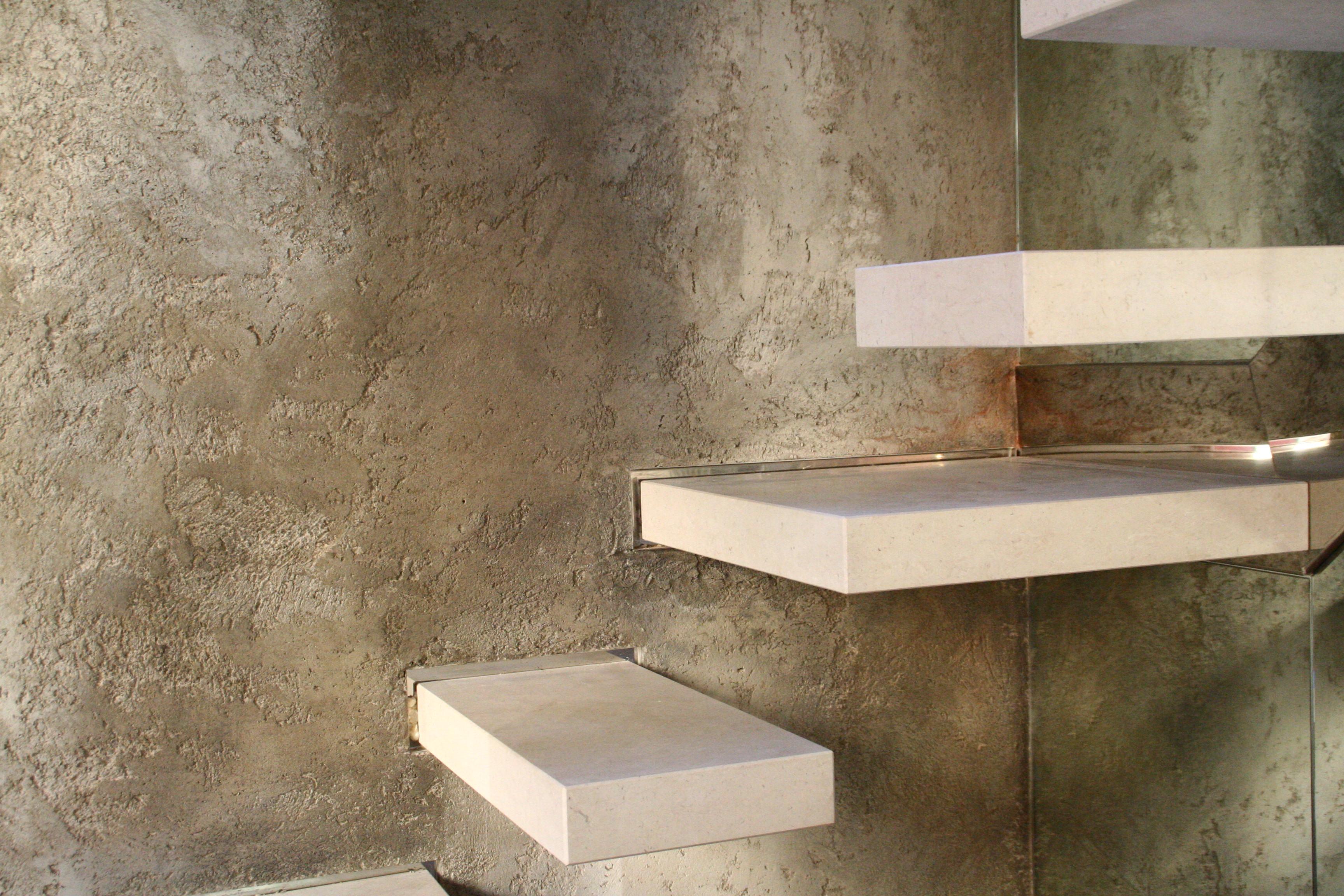 Specchio design x camera for Parete effetto cemento