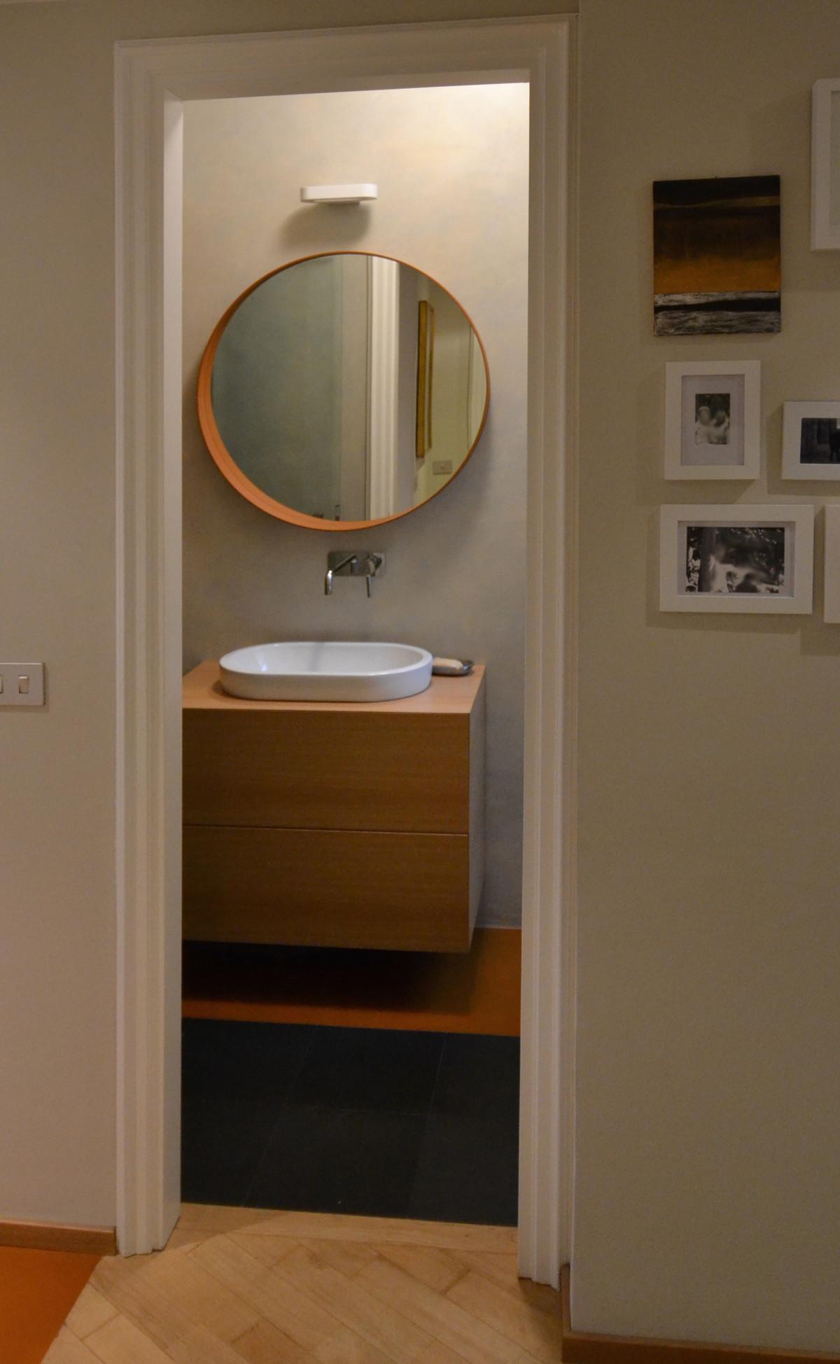 Resina bagni autunnali miko design for Appartamento via decorati milano